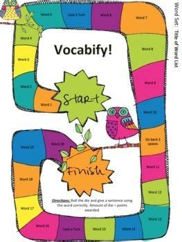 Homework vocabulary words