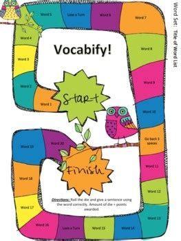 Homework vocabulary words